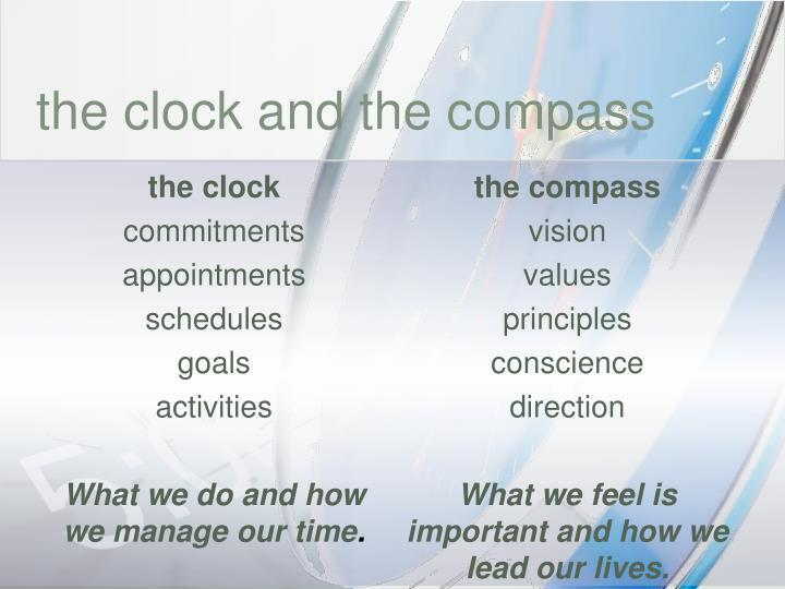 the clock and the compass