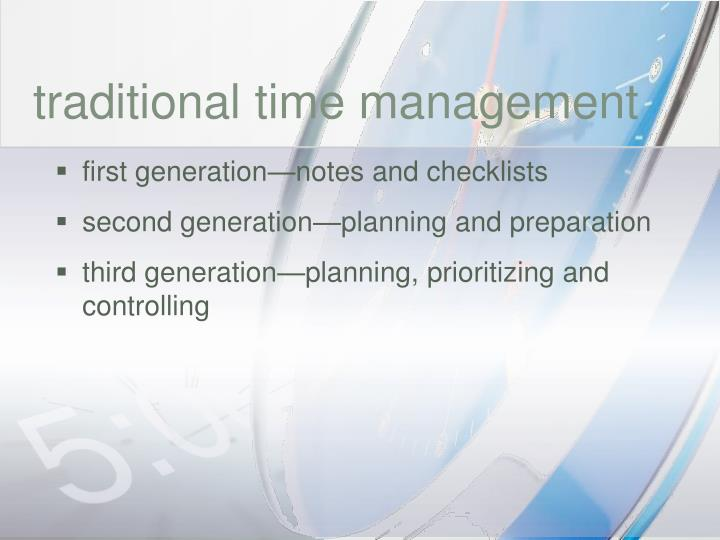 traditional time management