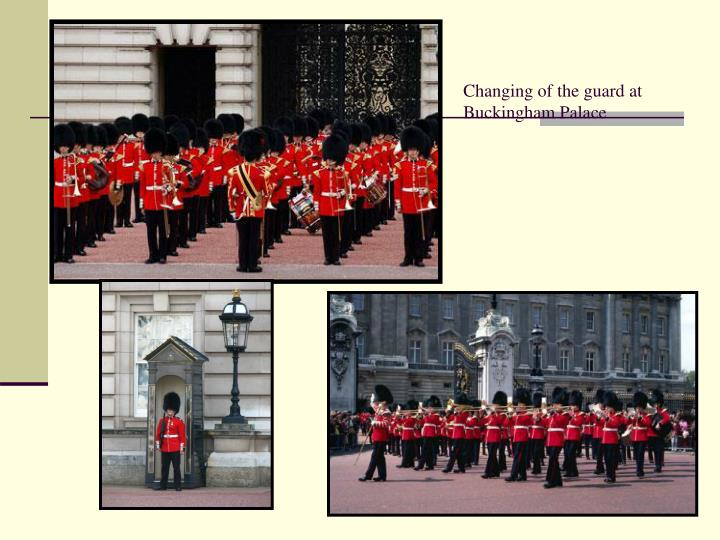 Changing of the guard at