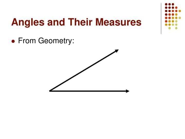 Angles and Their Measures
