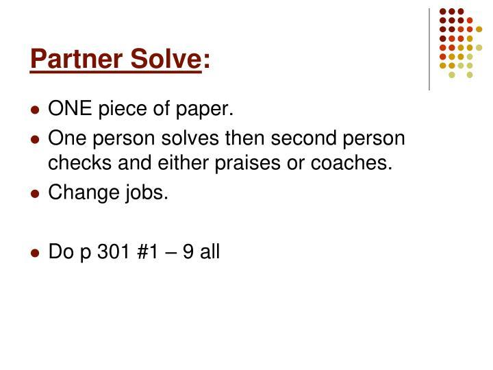 Partner Solve