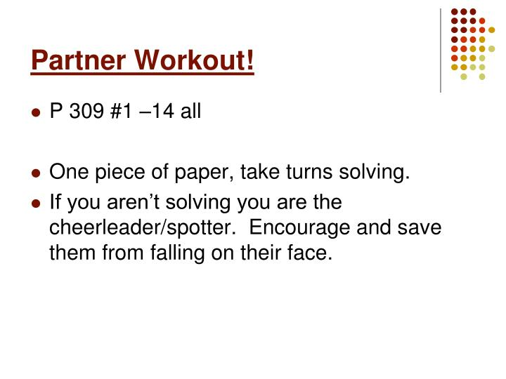 Partner Workout!