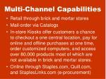 multi channel capabilities