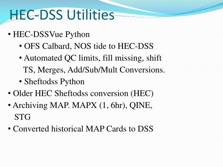 HEC-DSS Utilities