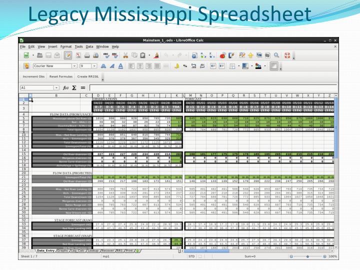 Legacy Mississippi Spreadsheet