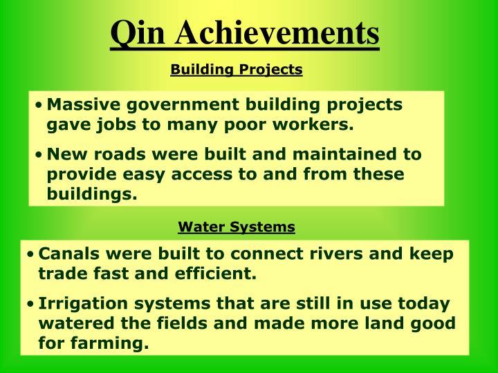 Qin Achievements