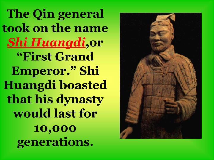 The Qin general took on the name