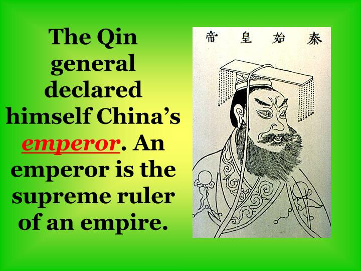 The Qin general declared himself China's