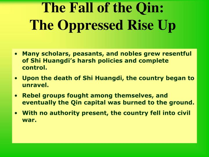 The Fall of the Qin: