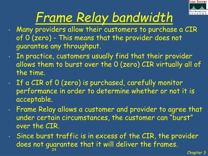 Frame Relay bandwidth