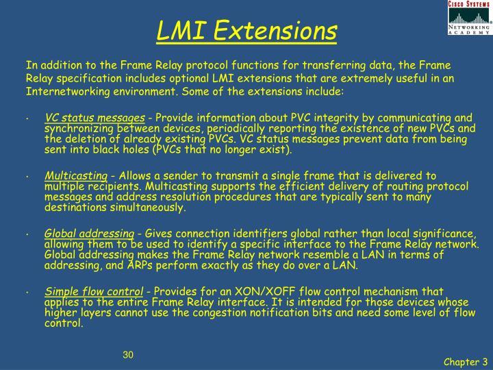 LMI Extensions