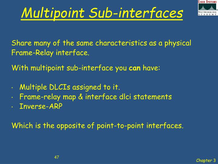 Multipoint Sub-interfaces