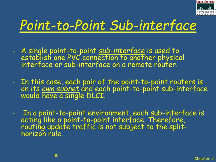 Point-to-Point Sub-interface