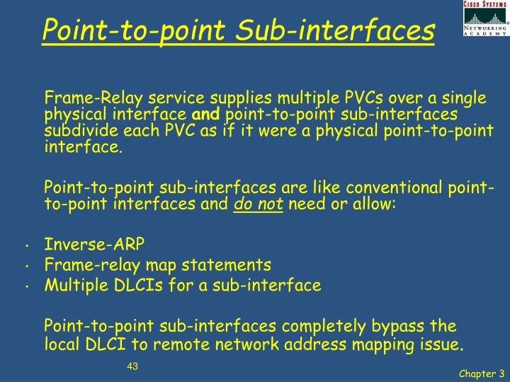 Point-to-point Sub-interfaces