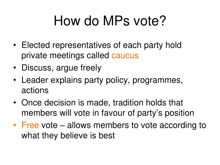 How do MPs vote?