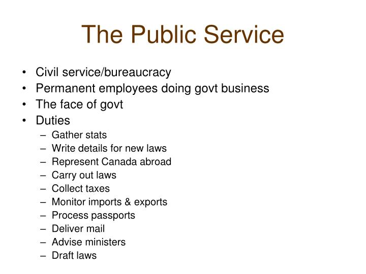 The Public Service