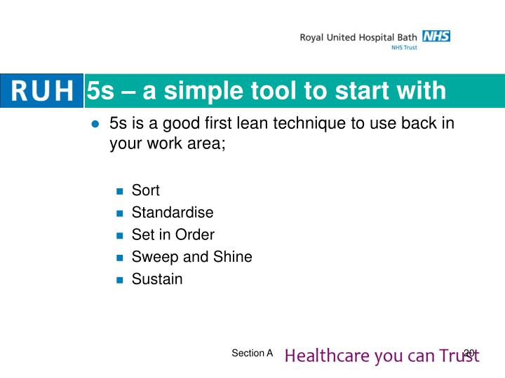5s – a simple tool to start with