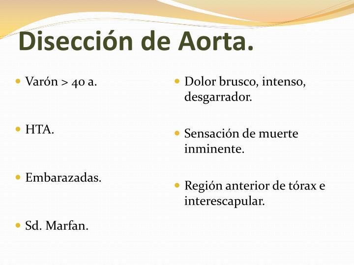 Disección de Aorta.