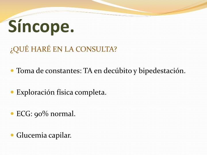 Síncope.