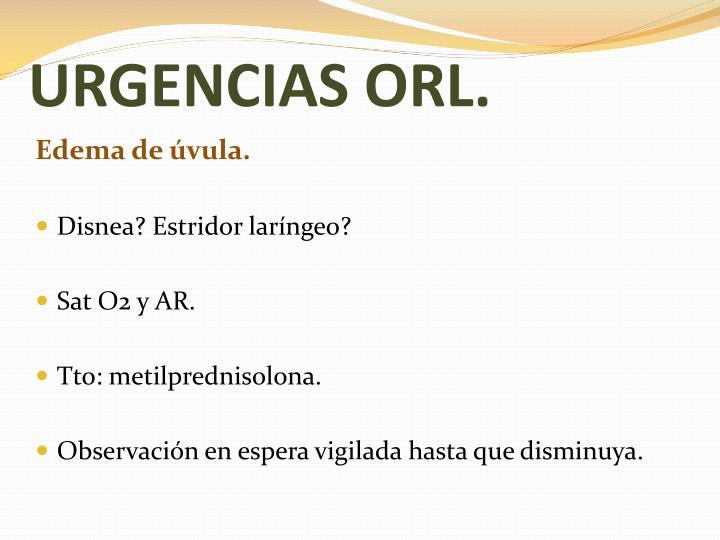 URGENCIAS ORL.