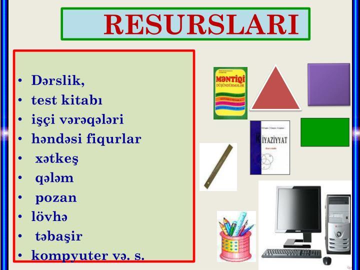 RESURSLAR