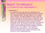 right to privacy u s constitution amendment v