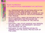 right to privacy u s constitution amendment xiv section 1