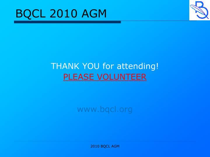 BQCL 2010 AGM