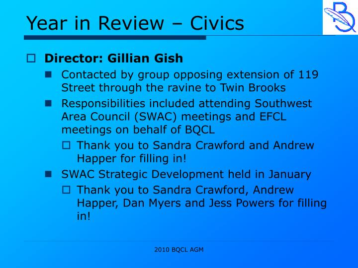 Year in Review – Civics