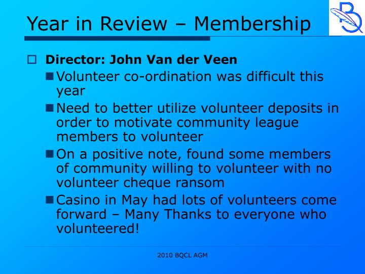Year in Review – Membership