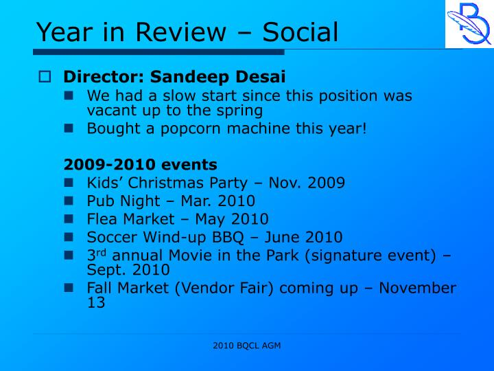 Year in Review – Social