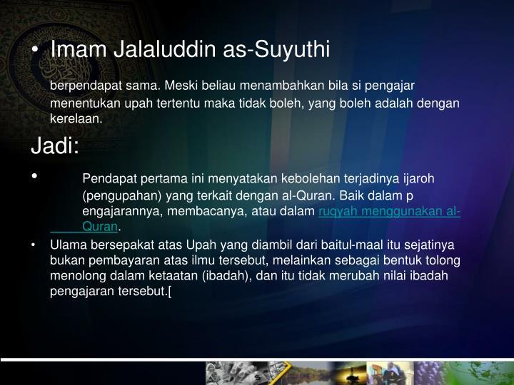 Imam Jalaluddin as-Suyuthi