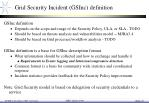 grid security incident gsinc definition