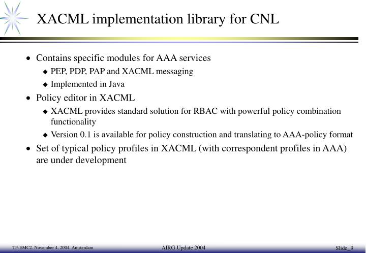 XACML implementation library for CNL