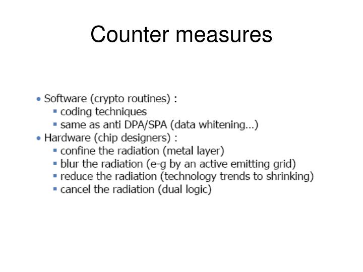 Counter measures