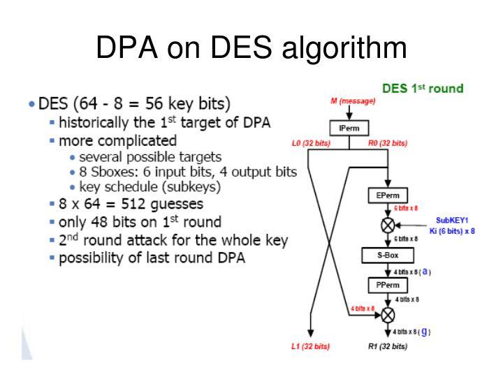 DPA on DES algorithm
