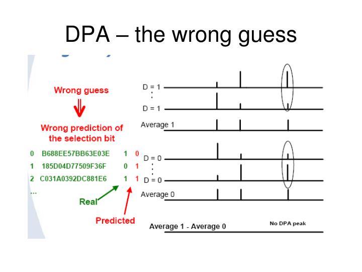 DPA – the wrong guess