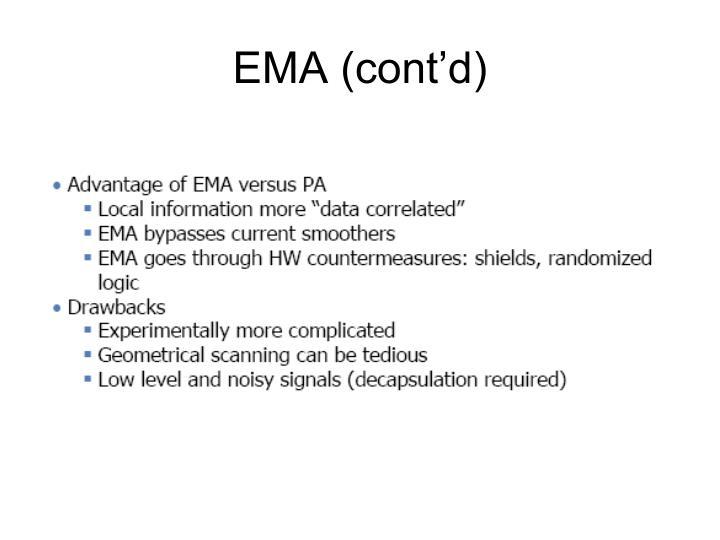 EMA (cont'd)
