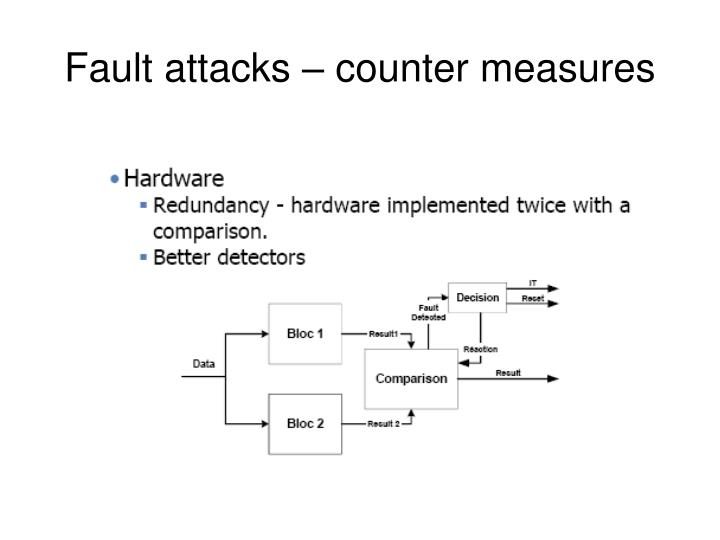 Fault attacks – counter measures
