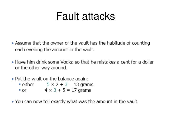 Fault attacks