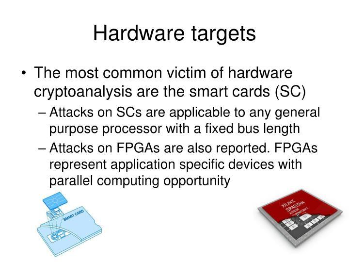 Hardware targets