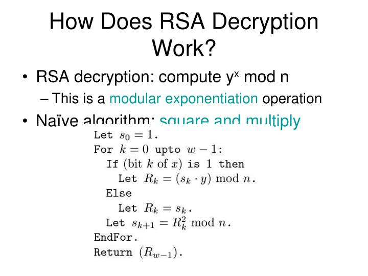 How Does RSA Decryption Work?