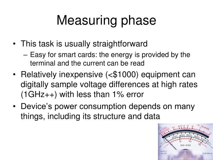 Measuring phase