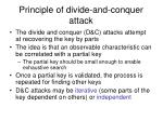 principle of divide and conquer attack