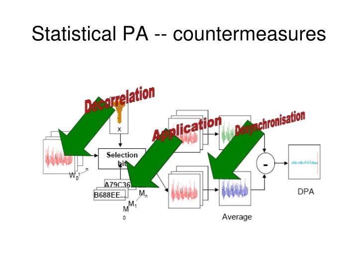 Statistical PA -- countermeasures