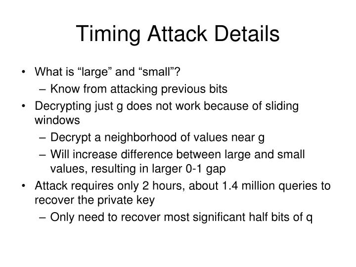 Timing Attack Details