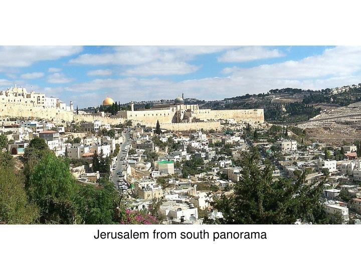 Jerusalem from south panorama