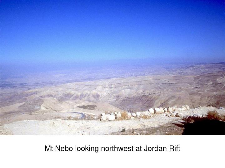 Mt Nebo looking northwest at Jordan Rift