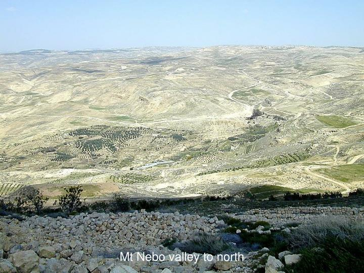 Mt Nebo valley to north