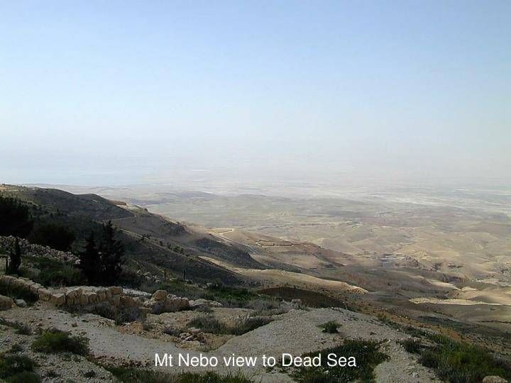 Mt Nebo view to Dead Sea